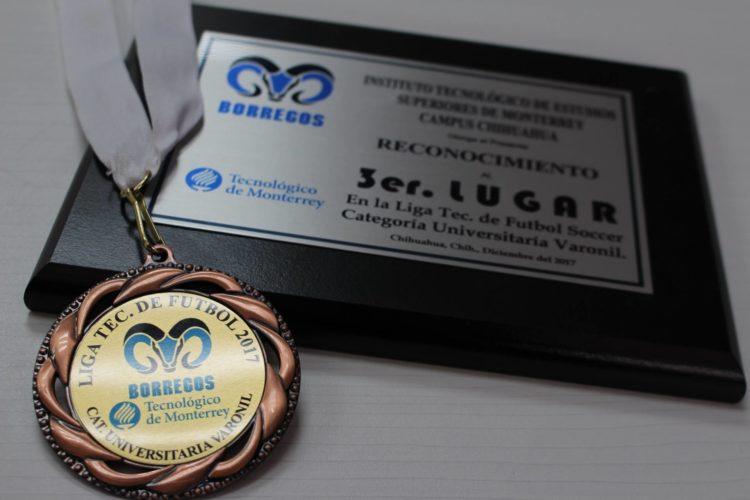 """3er lugar en """"Liga Tec 2017"""""""