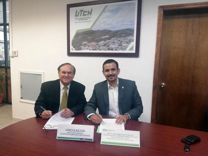 UTCH firma Convenio con Ejecutivos de Venta y Mercadotecnia de Chihuahua