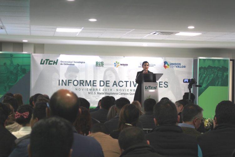 SE RINDE INFORME DE ACTIVIDADES 2019 DE LA UNIVERSIDAD TECNOLÓGICA DE CHIHUAHUA