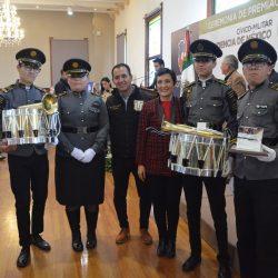 Premian a Banda de Guerra de la UTCH por participación en desfile de la independencia