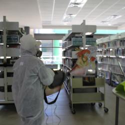 Mantiene UTCH limpieza y desinfección en sus instalaciones