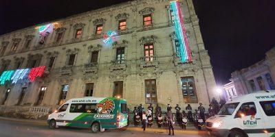 Participa Banda de Guerra y Escolta de la UTCH en festejo a distancia de Gobierno del Estado por la Conmemoración del 210 aniversario de la Independencia