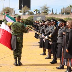 Participa la Universidad Tecnológica de Chihuahua en Izamiento de Bandera por parte de Gobierno Municipal